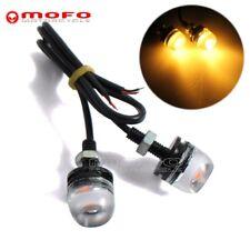 Amber 9W LED Eagle Eye Light Car DRL Daytime Reverse Backup Parking Signal Lamp