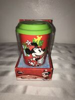 New Disney Ceramic Mug With Silicone Lid Minnie Mouse Christmas Travel Red
