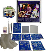 Glass Etching Kit Deluxe with Free How to Etch & Patterns CD