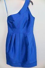 NWT Pied A Terre House of Fraser One-Shoulder Cobalt Blue Dress Size 8 MSRP $198