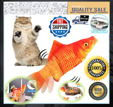 New listing Electric Dancing Fish Cat Toy Catnip Realistic Moving Plush Interactive Flopping