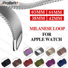 Correa De Acero Inoxidable Pulsera De IWATCH Apple Reloj 38mm-44mm Serie 1/2/3/4