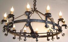 LAMPADARIO FORGIA 12 LUCI IN FERRO BATTUTO LANTERNA APPLIQUE LAMPIONE LAMPADE