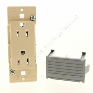 Pass & Seymour Ivory Straight Blade Self-Contained Receptacle 15A 125V SC085-R2