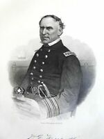 David G. Farragut Union Admiral 1865 Virtue Civil War portrait