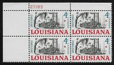 US Scott #1197, Plate Block #27185 1962 Louisiana 4c FVF MNH Upper Left