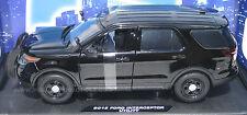 Motormax 1/18 Ford PI Utility Police SUV Black SLICKTOP    CASE OF FOUR!