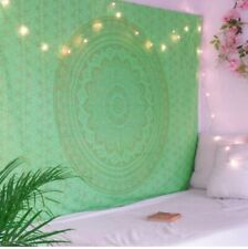 New Mandala Tapestry Psychedelic 100% Cotton Wall Hanging Home Decor Green Ombre