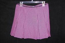 BeBe Pleated Pink & Black Skirt Sz 8