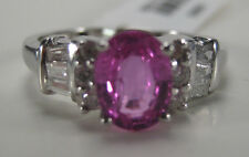 14KW 1.03 Carat Fancy Pink Sapphire & Diamond Ring