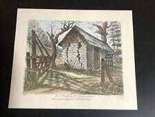 Ted Wade California Artist Stone Lithograph K.C. Hartranft Rancho #4/24 1980s