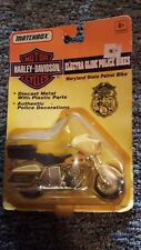 Matchbox Harley Davidson Electra-glide Police  Bikes 1:20 Scale.