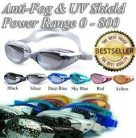 NEW Adjustable Anti Fog Waterproof Glasses Swimming Goggles & Swimming Caps UK