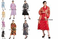 Indian Cotton Long Dressing Gown Mandala Print Kimono Hippie Bath Robe Sleepwear