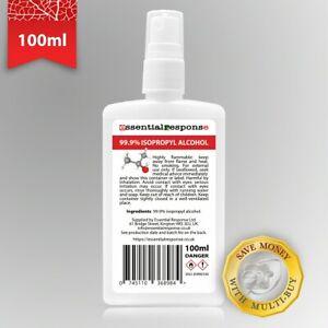 ISOPROPYL ALCOHOL 99.9% 100ML POSTAL BOTTLE SPRAY CAP ✅ SAME DAY DISPATCH