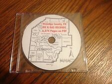 Venango County Pa Oil & Gas Maps Well Records 6274 Pages on CD 1859 - 2013
