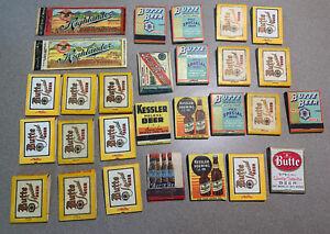 Montana Beer Matchbook Lot of (28). Highlander, Butte, Kessler