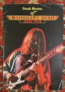 FRANK MARINO & MAHOGANY RUSH JAPAN TOUR CONCERT PROGRAM 1979 30 Pages INCREDIBLE