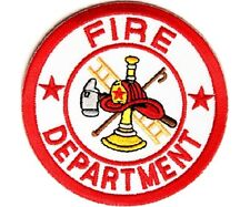 "(H11) FIRE DEPARTMENT 3"" x 3"" iron on patch (2228) Firefighter"