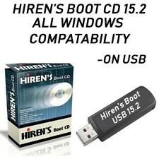HIREN'S BOOT DISC ON CD FOR WINDOWS XP VISTA 7 8 8.1 10 TO FIX & REPAIR ON CD
