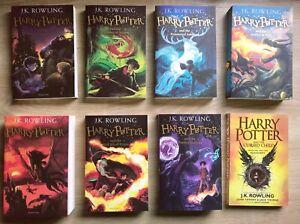 Harry Potter Collection Set Books X8 (paperbacks) No Slip Case/box