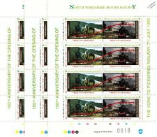 3 x 1995 BR Evening Star York-Whitby Map NYMR Railway Letter Train Stamp Sheets