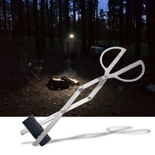 Log Grabber Fireplace Tongs Wood Fired Oven Tool Grill Camping Fire Pit Tool Z