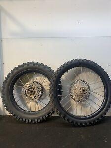 Kawasaki Kx 85 2011  Pair Of Big Wheels Front & Back Rear Tyres Discs & Swingarm