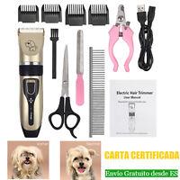 Cortapelos Perros Máquina Cortar Pelo Inalámbrico y Recargable lima para Mascota