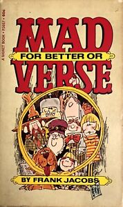 """MAD Paperback - """"MAD For Better or Verse"""" - 1st Printing, Nov 1968 - VF/NM"""