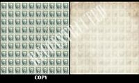 USA 1847 10¢ BLACK RECONSTRUCTED SHEET OF 100    COPY