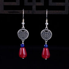 from Red Jade Silver 925 F04 Earring Asian Lucky Symbol Droplets