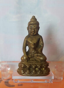 Phra Kring Wat Suthud Talisman Charm Lucky  Rich Protected Thai Buddha Amulet