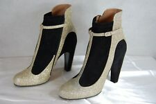 SUPPER GORGEOUS!!! Maison Martin Margiela WOMEN GOLD  GLITTER BOOTS EU 40 US 10