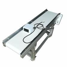 Flat Conveyor PU Belt Transport System Industrial Conveyor 59inch Length