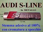 AUDI S SLINE S-LINE A1 A2 A3 A4 A5 TT Badge Stemma Fregio Logo Emblema LATERALE