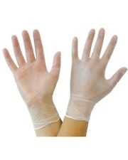BODYGUARDS CLEAR VINYL LIGHTLY POWDERED GLOVES X/LARGE VE100/04 - 10 BOXES