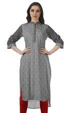 Moomaya Cotton Mandarin Collar Neck Kurti ForWomen Printed Dress-ET-DTS80A_3