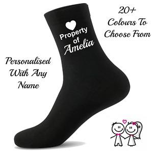 Personalised Socks Husband, Boyfriend, Girlfriend, Wife Gift - Property Of...