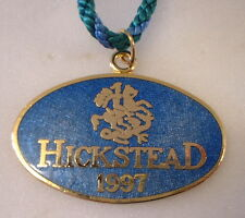 Hickstead 1997 Enamel Badge with Cord Horses Equestrian Showjumping