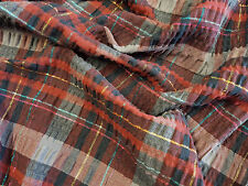 SALE Plum Checks Cotton Stretch Fabric, dress fabric, shirt fabric