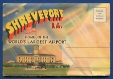 Shreveport Louisiana la Barksdale Field Red River Caddo Parish postcard folder