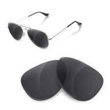 Polarized Replacement Lenses for Rayban 3025 aviator 58 size black iridium color