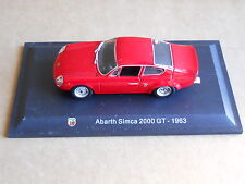 Leo Models CAR DIE CAST ABARTH 1:43 NEW - ABARTH SIMCA 2000 GT 1963 [MV-2 ]