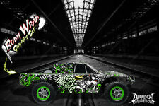 "TRAXXAS SLASH 4X4 GRAPHICS WRAP ""WAR MACHINE"" HOP-UP DECALS FOR OEM BODY PARTS"