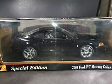 Maisto 2003 Ford SVT Mustang Cobra Hardtop 1:18 Scale Diecast Model Car Black