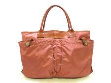 Auth Felisi Helmet bag 9236 Beige Brown Nylon &  Leather Handbag