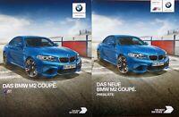 1354) BMW M2 Coupe 370 PS - Prospekt 2017 Brochure + BMW M2 Preisliste 11/2016