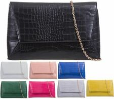 Clasp Clutch Bags Synthetic Handbags