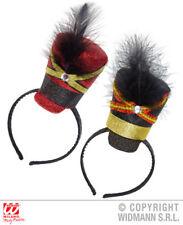 Red Black Glitter Majorette Mini Hat Parade Cheerleader Fancy Dress Accessory